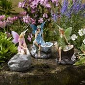LED Solar Fairy Spot Lights - Bella the Blue Fairy