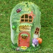 Light up - Cabbage Cottage - Country Garden Fairy House - 17cm