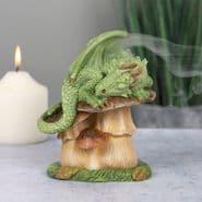 Magical Green  Dragon-  Incense Cone Burner - 13cm