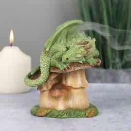 Magical Green  Dragon-  Incense Cone Burner - 13cm.