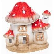 Magical Mushroom Fairy House - Hand Crafted Ceramic House - 16cm
