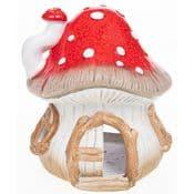 Magical Mushroom Fairy House - Hand Crafted Ceramic House - 21cm