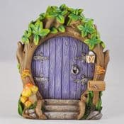 Magical Purple Forest Fairy Door - Large 17cm