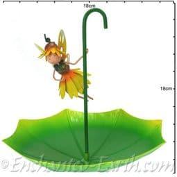 Metal Fairy Umbrella Bird Feeder - Honey The Sunflower Fairy.