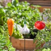 Metal Funky Veg Garden Stakes - Choose from three designs