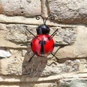 Metal Garden Ladybird - wall Hanger
