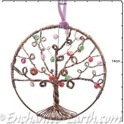 Metal Sparkle Tree - Hanging  Decoration - Choose from Gold or Silver - 10cm.