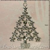Metal Sparkle Tree -Hanging  Decoration - Choose from Gold or Silver - 10cm
