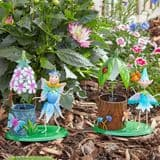Metal  Spring Garden Fairy & Friends Wishing Well - Choose from 2 designs