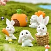 Miniature Fairy Garden -  Spring Garden Gift Set  - 7 Piece Set