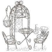 Miniature Garden Furniture Gazebo Starter Pack (Pack Three) 7 items