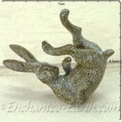 Miniature Garden Grey Playing Hare - 7cm