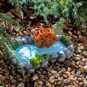 Miniature Garden MillPond wih Frog - 15cm