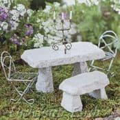 Miniature Garden Stone Bench