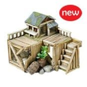 Miniature Garden -  wooden beach house with boardwalk -17cm