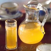 Miniature Real Glass Jug of Orange Juice