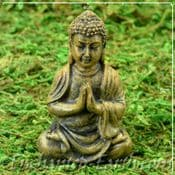 Miniature World - Japanese Miniature Garden- Fairy Garden Praying Buddha