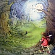 MoonGazer Fairy Greeting Card- ( Woodland Fairy Ring)