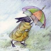 Moongazer Greeting Card- The Weather Rabbit