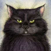 Moongazer Greeting Card- Witches Black Cat