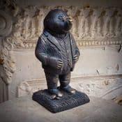Mr Mole - Antique Bronzed Resin  Garden Sculpture