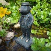 Mr Ratty - Antique Bronzed Resin  Garden Sculpture