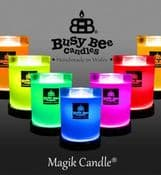 New The Magik Candle - No Flame Just Incredible Controllable Fragrance - Clean Cotton