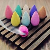 Pack of 10  BlackFlow Incense Cones (waterfall effect Scented cones) MIXED SCENTS
