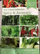 Pack of 300 seeds - Seed Collection 6 in 1 - Spicy & Aromatic