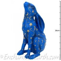 Pagan Blue Moon Gazing Hare - 26cm tall.