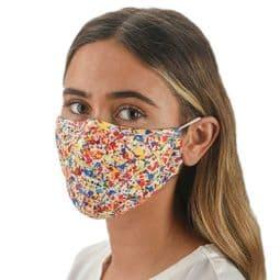 Paint Splatter - Multi - Colour - Party Face Mask /Face Covering.