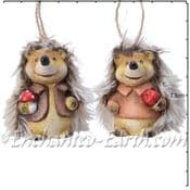 Pair of cute Hedgehogs - 7cm