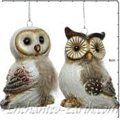 Pair of cute Owls - 7.5cm