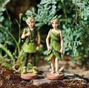 Pair of Fantasy Forest Elves - 10cm Tall (with magnetic base)