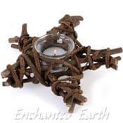 Pentagram Willow Candle Holder