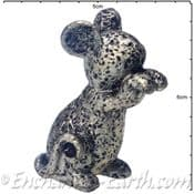 Pewter Effect Country Mouse (Both paws up)