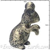 Pewter Effect Country Mouse (with right paw up)