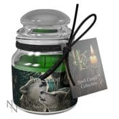 Protection Spell Candle -Lavender - 9cm