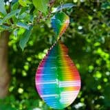 Rainbow Wave -  Hanging Wind Spinner  - 15""