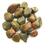 Real Gemstone Runes - Pack of 25 - Natural Unakite