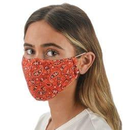 Red Bandana - Multi - Colour - Face Mask /Face Covering.