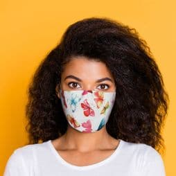Reusable Face Covering - Butterflies - Double Layered Face Mask.