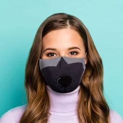 Reusable Face Covering - Cute Dog - Double Layered Face Mask.