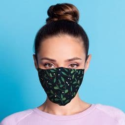 Reusable Face Covering - Mistletoe - Double Layered Face Mask.