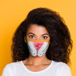 Reusable Face Covering - Tiger - Double Layered Face Mask.