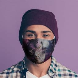Reusable Face Covering - Wolf -Call of the wild - Double Layered Face Mask.