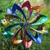 RHS Malvern Starlight - LED - Light up -  Metallic  Foil Garden Wind Spinner