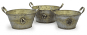 Rose Collection - Zinc Planter Bowls - 3 sizes to choose from