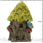 Rustic Flat Backed  Fairy Garden house -  Daisy Cottage