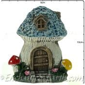 Rustic Flat Backed  Fairy Garden house -  Forget-Me-Not Cottage